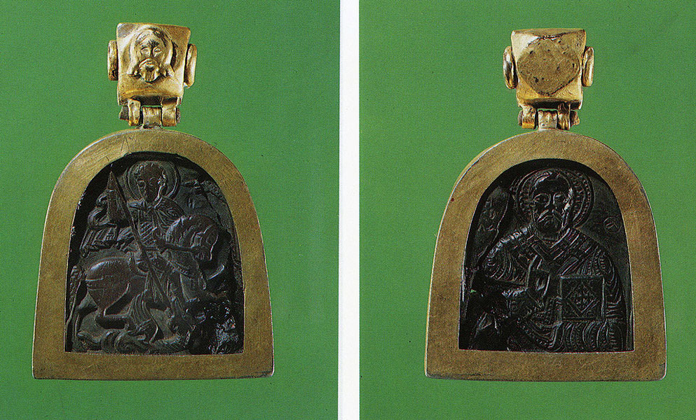 Pectoral icon. 14th century. Moscow. Obverse. Reverse